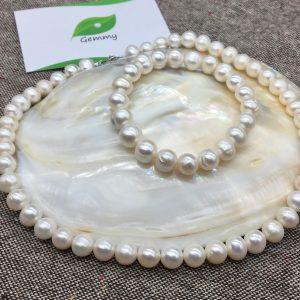 Bộ sản phẩm ngọc trai BT023 trắng