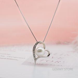 Mặt dây ngọc trai trái tim T19.239